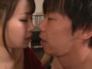 Tasty cum in mouth of horny babe Mayu Kamiya