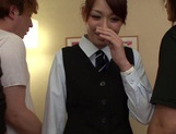 Multiple Cocks Give Office Babe Yuri Sakano A Gangbang picture 7