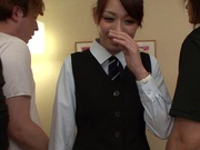 Multiple Cocks Give Office Babe Yuri Sakano A Gangbang