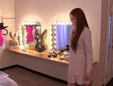 Sexy Asami Ogawa gets drilled in dressing room picture 1