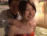 Horny Saki Yano drilling her own pussy!
