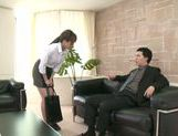 Sexy office girl Akiho Yoshizawa is ridden doggystyle picture 4