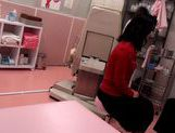 Japanese AV Model hot milf sucks cock in doctor office