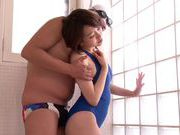 Hot milf in swimsuit Nade Tomoseka gives amazing blowjob