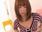 Busty Asuka Masturbates And Gets Screwed Deep