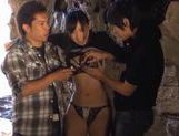 Kinky Nana Ogura toys insertions in a cave! picture 15