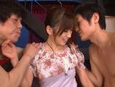 Saki Ayano double blowjob and hard fuck! picture 11