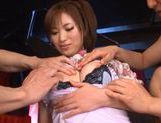 Saki Ayano double blowjob and hard fuck! picture 15