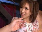 Saki Ayano double blowjob and hard fuck! picture 5