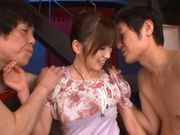 Saki Ayano double blowjob and hard fuck!