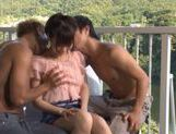 Hitomi Oki gets a two cock hardcore action for her pussy