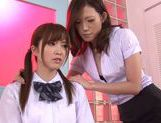 Horny Teacher Gives Teen Rina Kato Her First Lesbian Kiss