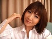 Rin Sexy Asian model in bikini fondles her snatch