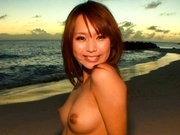Akina Gets Naughty At The Beach As The Sun Sets