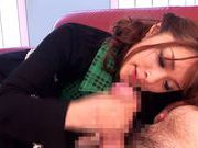 Japanese sex bomb Mihiro blows the lucky guy´s dick like crazyasian babe, japanese sex}