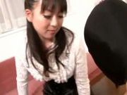 Talented Japanese milf fucks hr lover with strap-on