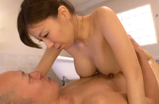 Busty Chihiro Akino pleases client with hardcore
