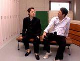 School girl Kanon Imai sucks and fuck in the locker rooms