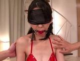 MILF Hitomi Honjou In Red Lingerie Slammed Hard In A Threesome