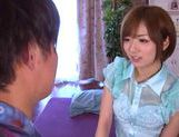 Superb Japanese AV model fucks with horny guy picture 8