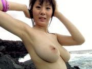 Yuma Asami show her big boobs outdoorscute asian, asian anal}
