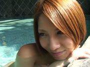 Sexy japanese model Risa Mizuki enjoys hardcore