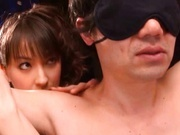 Japanese AV Model Sucks And Strokes Her Love Slave