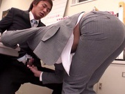 Office Babe Takes A Doggy Style Fucking In Her Work Clothes