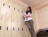 Locker Room Sex With A Beautiful Office Babe In Work Pants