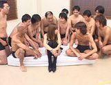 Miki Matsufuji receives creamy bukkake