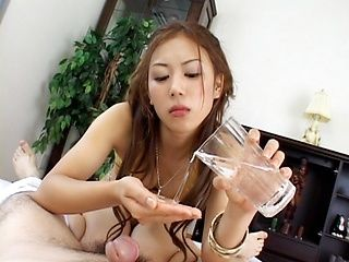 Sucking And Stroking Earns Rimu Himeno His Cum Load