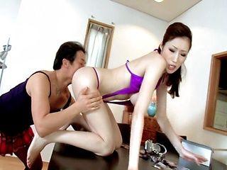 Fantastic boobs Julia in a kinky bikini getting banged