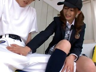 Teen Miku Airi Dreams Of Drinking A Baseball Player´s Cum