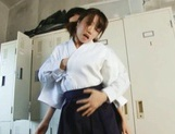 Teen Chika Sena Gets Fucked In The Locker Room In Her Kimono