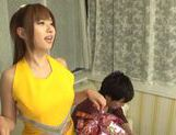 Hot busty Asian chick Kokomi Naruse gives blowjob