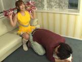 Hot busty Asian chick Kokomi Naruse gives blowjob picture 6
