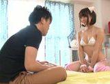 Hand work with Mayu Kamiya in mini bikini