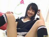 Japanese maid Miku Hoshino solo masturbation picture 14