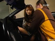 Nao Yoshizaki fucks hard on a fast car!