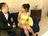 Busty Ayano Umemiya Fucked On The Couch By An Interviewer picture 8