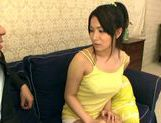 Busty Ayano Umemiya Fucked On The Couch By An Interviewer picture 9