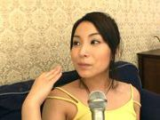 Busty Ayano Umemiya Fucked On The Couch By An Interviewer