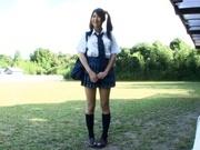 Hitomi Kitagawa as schoolgirl pool sex