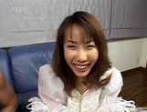 Chisato Hirai kinky masturbation and cumshot