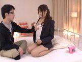 Horny Yuu Asakura Fucks And Swallows Fully Clothed picture 10