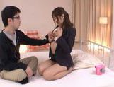 Horny Yuu Asakura Fucks And Swallows Fully Clothed picture 11