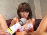 Yu Kawano Pulls Her Panties Aside To Squirt The Camera picture 12