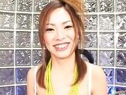 Yukari Mayama's Sexy Hairy Pussy Brought To Orgasm
