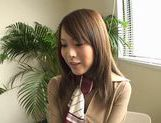 Dressed Up Teen Yuri Kousaka Vibrated And Sucks Dick picture 9