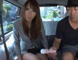 Eri Ouka Japanese model has car sex picture 8